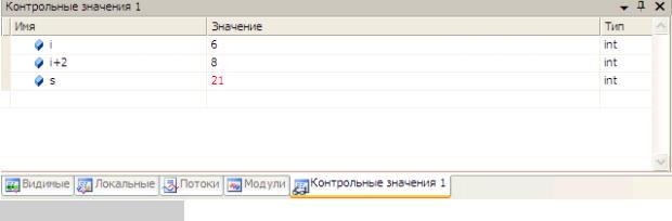 Доступ к переменным в среде Visual C++ 2008