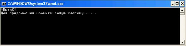 Печать русских букв в среде Visual C++ 2008 в среде Visual C++ 2008